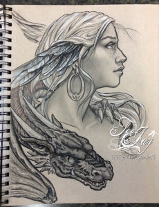 dragon lady drawing