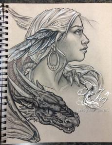 dragon lady drawing