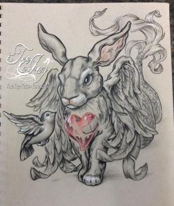 bird and bunny drawing