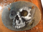 Garden Skull painting