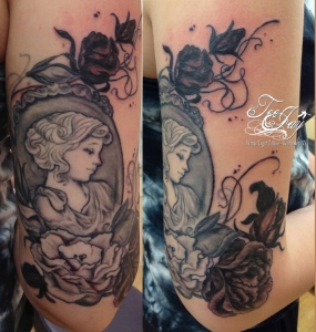 Cameo tattoo