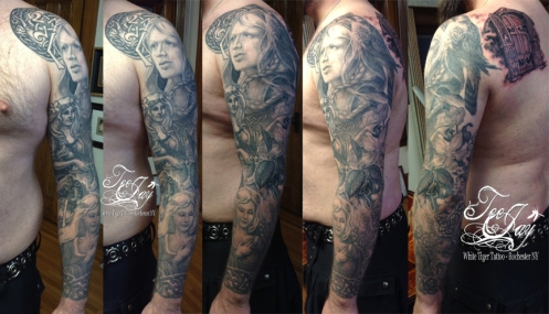 Norse Goddess Tattoo sleeve