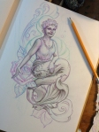 Grandma Mermaid drawing