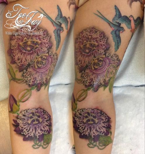 passion flowers tattoo