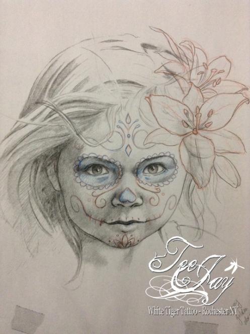 Sugar Skull Child drawing