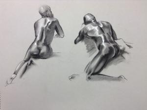figure drawing male backs