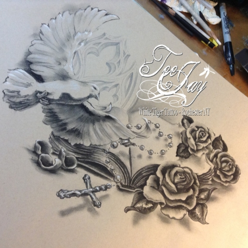 drawing for upper back piece tattoo