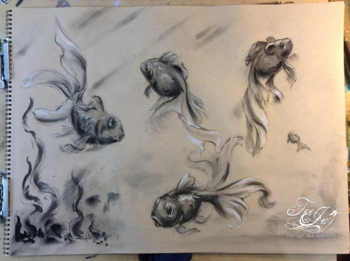 charcoal fishes