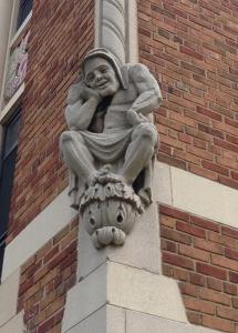 corner gargoyle pondering