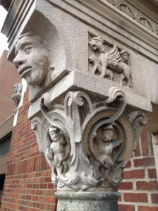 faces on the column