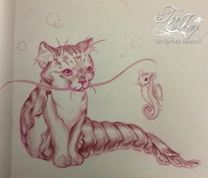Kitty Lobster drawing