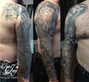 Norse God sleeve tattoo