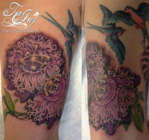 passion flower tattoo
