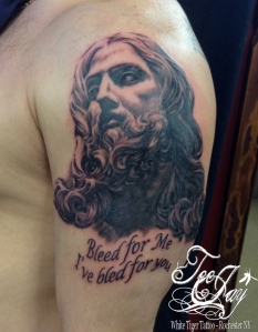 Bernini Jesus tattoo