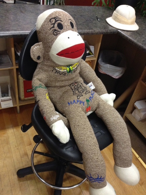 sock monkey end of first session