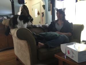 TeeJay and cat