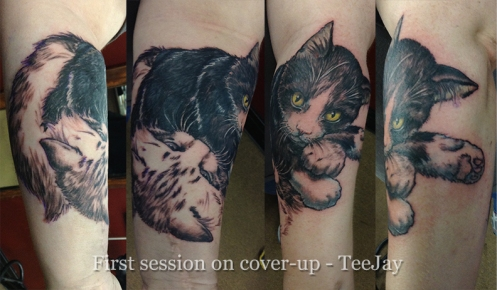 first session tattoo cover-up