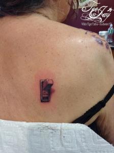 3d light switch tattoo