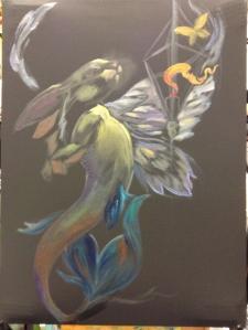 merbunny painting in progress
