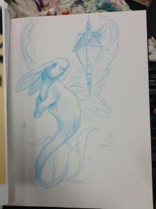 merbunny drawing