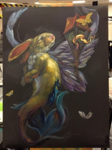 merbunny painting in progress