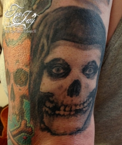 misfits crimson ghost skull tattoo
