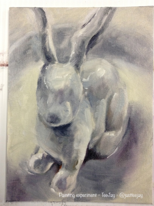 bunny painting