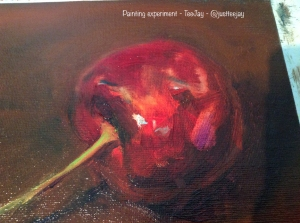 cherry painting detail
