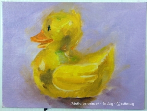 painting a rubber duck