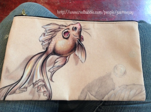 Fancy Tail Mermouse Pencil Bag