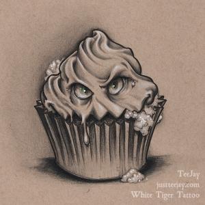 rabid cupcake drawing