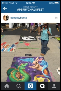 TeeJay at the Perry Chalk Festival