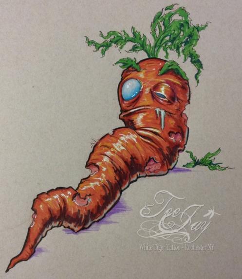 8 bit zombie carrot