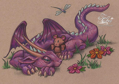 Dragon settling down for nap