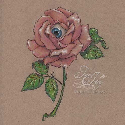 eyeball rose