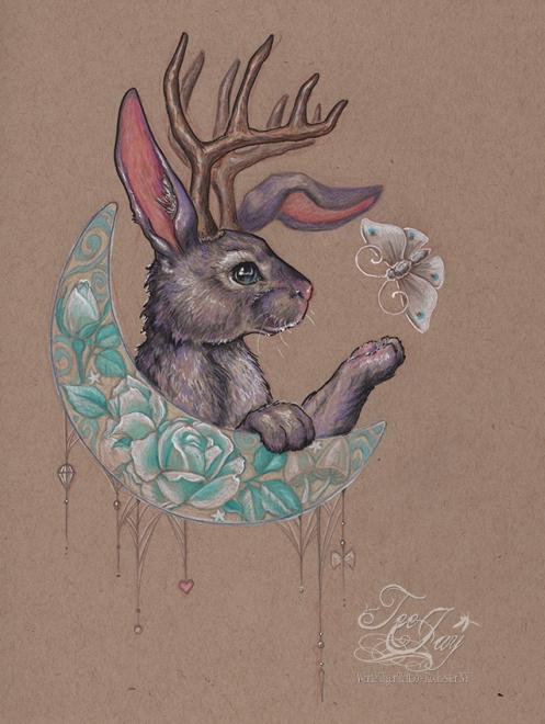 Moon Bunny Jackalope
