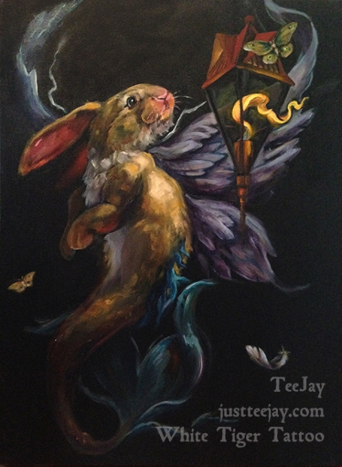 moth and flame painting by TeeJay