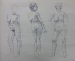 figure drawing in ballpoint pen