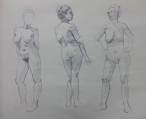 figure drawing in ballpoint pen