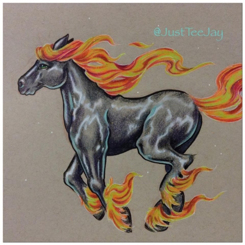 horse wildfire