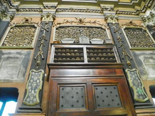 skulls from violent deaths Milan Ossuary - San Bernardino alle Ossa