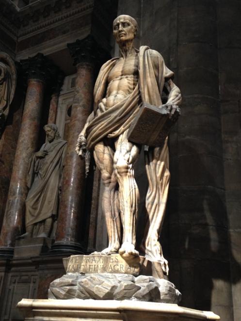 flayed man sculpture