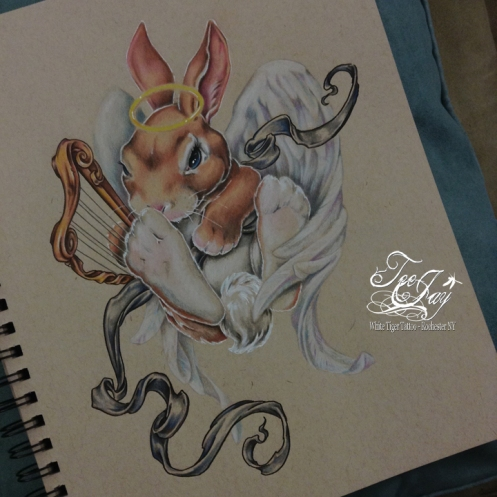 angel bunny drawing