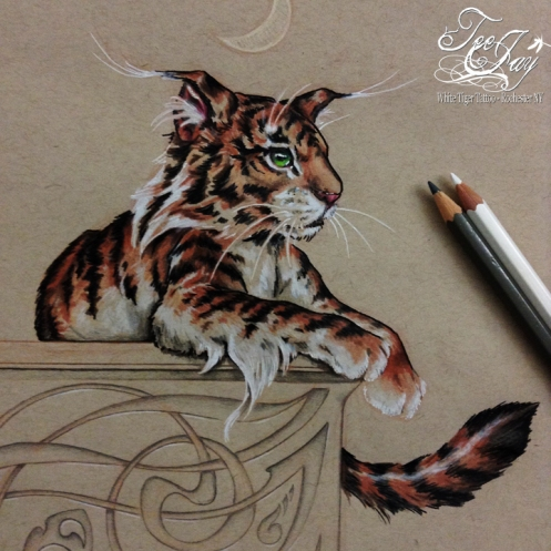 elf tiger drawing