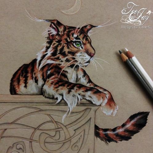 elf tiger drawing