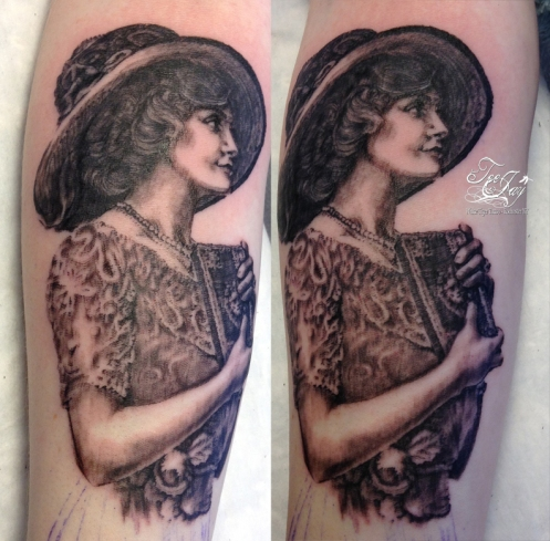 old fashioned gal tattoo