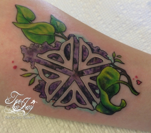 rochester flower lilac tattoo