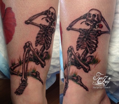 grateful dead skeleton tattoo