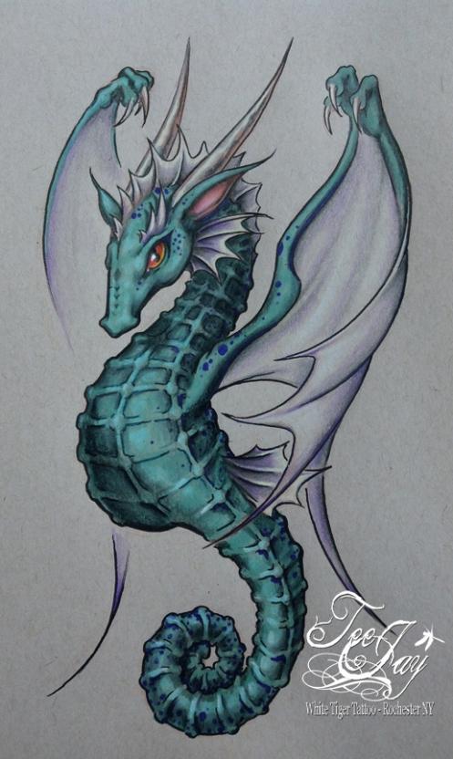 Dragon Seahorse drawing