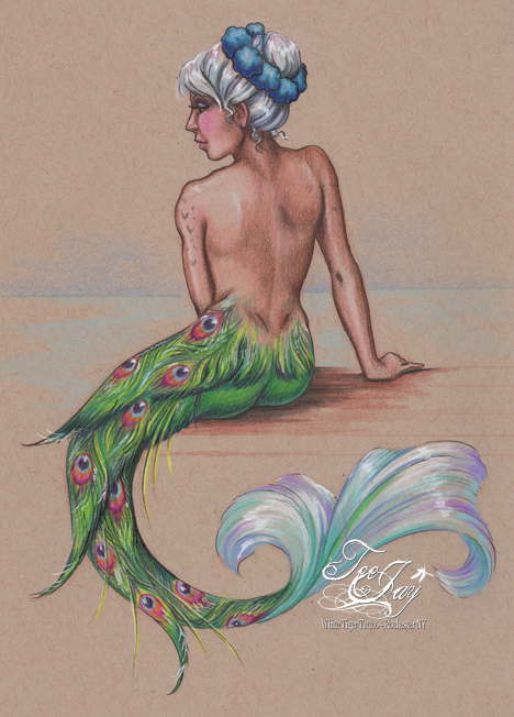 peacock tail mermaid